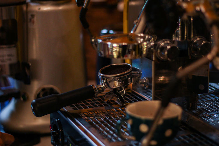 Close-up of coffee at cafe