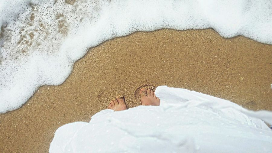 Close-Up Of Girl On Sand