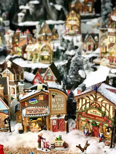 Architecture Winter Snow Built Structure Building Exterior Outdoors Cold Temperature No People Day Christmas Decoration City
