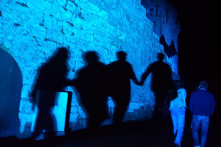 Shadows in the Blue. Sextafeira13 in Montalegre . ( le bat )