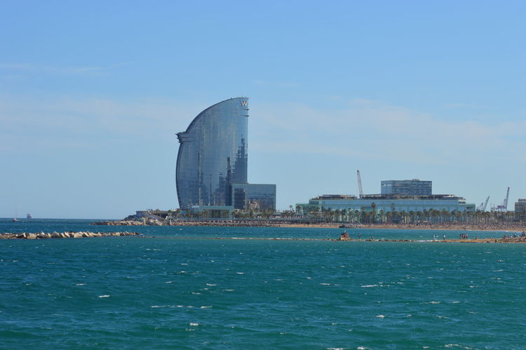 Architecture Barcelona Barcelona, Spain Blue Building Exterior Built Structure City Clear Sky Day Europe Industry No People Outdoors Sea Sky Urban Skyline Water Whotelbarcelona