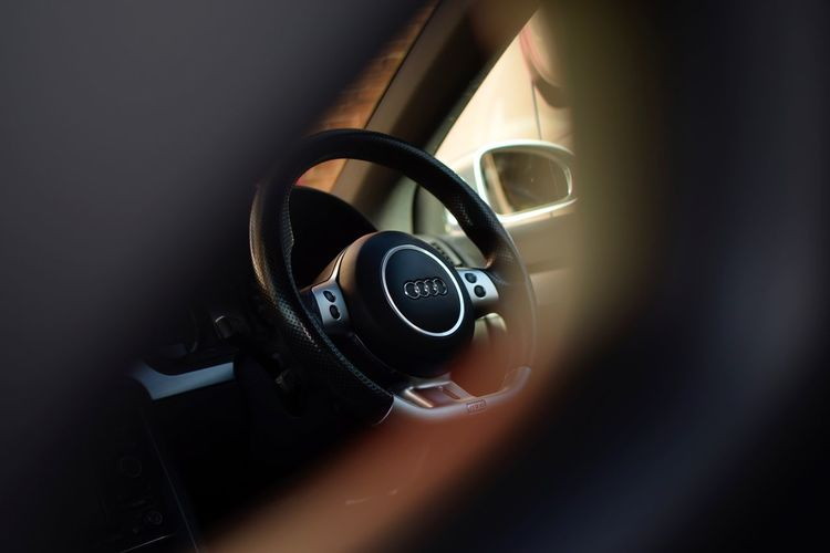 Audi Bucket Seat Car Close-up Day Indoors  No People RS4 Steering Wheel
