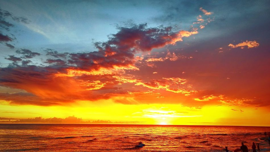 Sunset Dramatic Sky Sea Horizon Over Water Landscape Scenics Seascape Nature Orange Color Sky Beach Beauty In Nature Sunlight Sunset_collection Sunset And Clouds  Sunlight And Shadow