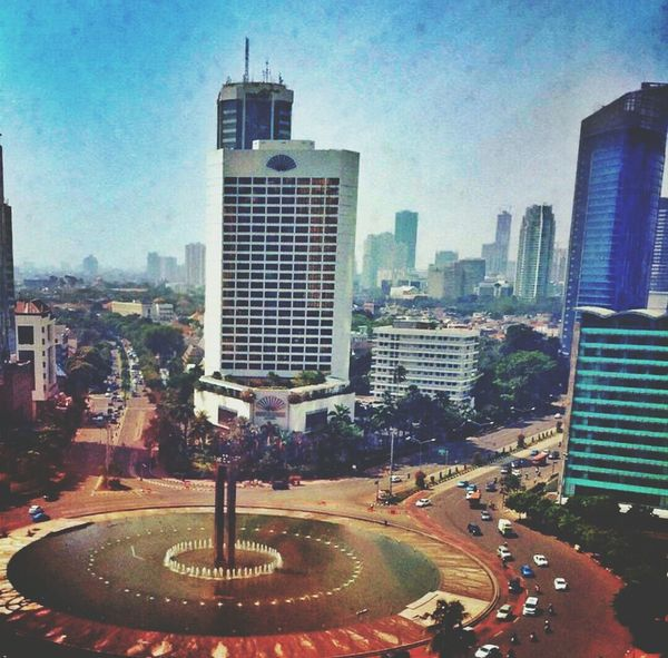 Hello World Sky And City Lanscape Photography Of Historical Places Jakarta Pusat