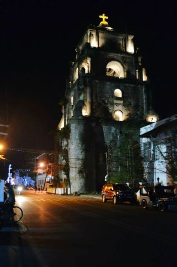 Sinking Bell Tower. Belltower Laoag City Ilocosnorte Philippines Cityscapes Night Lights