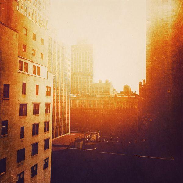 City sun Landscape_photography City Cityscapes City Life New York Manhattan Skyline Sunset Sun Sunrise Sunshine Building Architecture Bright Colors