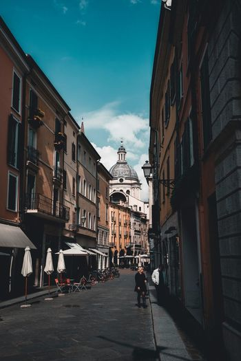Mantova Building Exterior Architecture Built Structure City Sky Building Street Cloud - Sky The Way Forward Motor Vehicle Mode Of Transportation Road Direction Day Incidental People Transportation Residential District Nature Car Sunlight