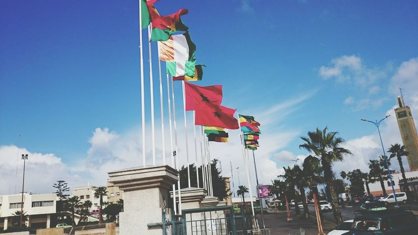 Morocco, AfricaFlag City Sky Outdoors Tranquility Multi Colored Day No PeopleTree XperiaZ1 Xperiaphotography XPERIA Xperia Z2 Morocco Africa