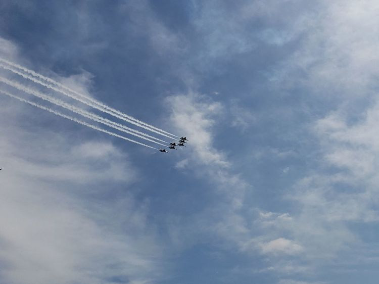Thunderbirds, Air Show, Aviation Aviation Pennsylvania EyeEm Selects Pennsylvania Beauty Tranquility Tranquil Scene Vapor Trail Vapor Trail Aerobatics Fighter Plane Airshow Airplane Teamwork Flying Acrobatic Activity Performance Air Vehicle Formation Flying Stunt Military Parade Entertainment Air Force US Air Force Military Airplane Military