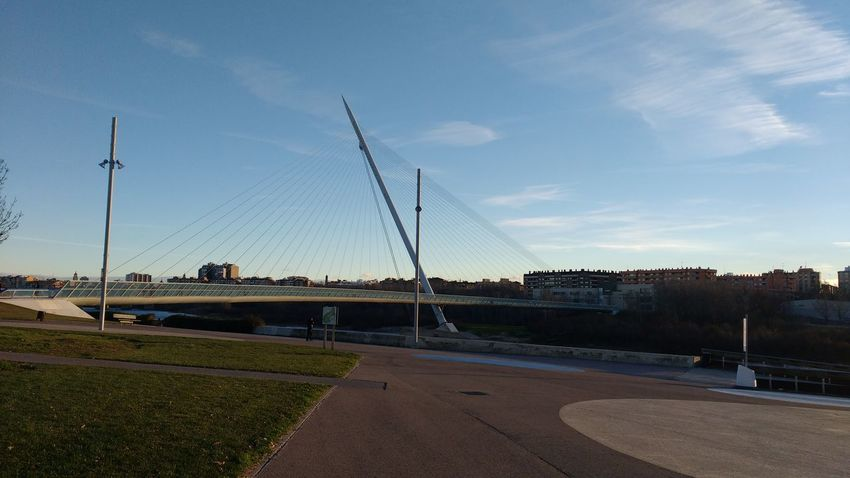 El pincho Snartphonephoto Sky Outdoors Day Architecture Bridge - Man Made Structure Architecture City Eddl Zaragoza 2017 Clear Sky River Water No People Tourism Travel Destinations
