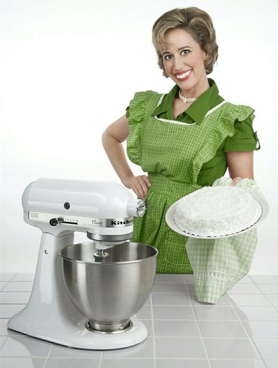 Copyright 2015 Nicole Bernal Photography Studio Photography Product Photography 1950s 1950's Style Housewife Crazy Cake Apron Crazy Eyes