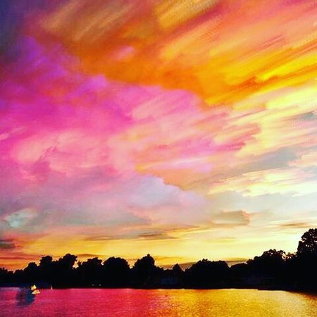 A son following father's steps. Multi Colored Sunset Dramatic Sky No People Outdoors Sky Beauty In Nature Nature Scenics Night Pattern Padrões Pattern, Texture, Shape And Form Red Multicolored Multicolour Powder Paint EyeEmNewHere Choice Variation Exceptional Photography Neon Life