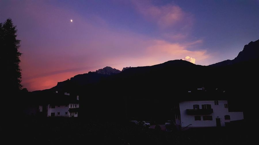 Mountain Night Moon Outdoors No People Beauty In Nature Sky Nature Sunset Silhouettes Sunset_collection
