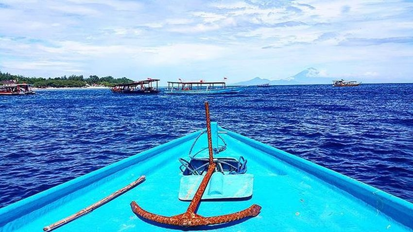 Sea, Sky, Snorkling, Swim, Sunny, So beautiful day Giliislands Agushariantophotography Sunnyday Snorkling