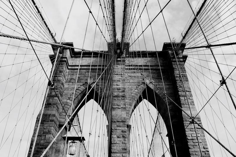 Brooklyn Bridge BlackAndWhithe Newyork Second Black & White Newyorkcity Selfmade