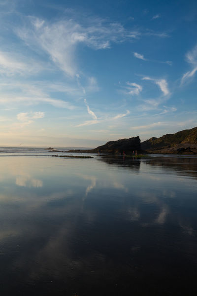 Beach Beauty In Nature Evening Evening Light Evening Sky Nature Reflection Reflections Reflections In The Water Sea And Clouds Sea And Sky Seascape Sky Sky And Clouds Summer