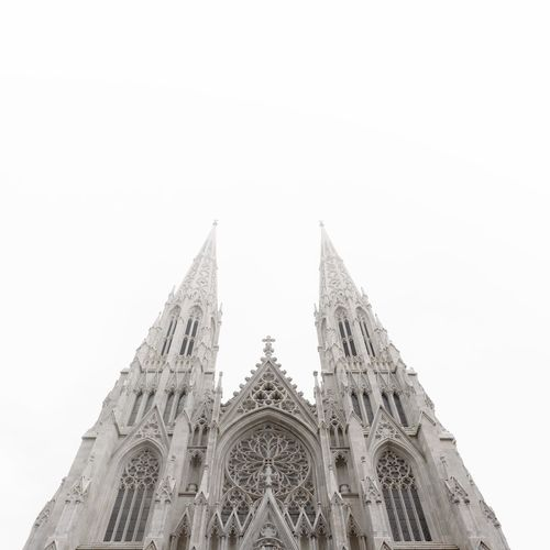 Low angle view of st. patrick cathedral