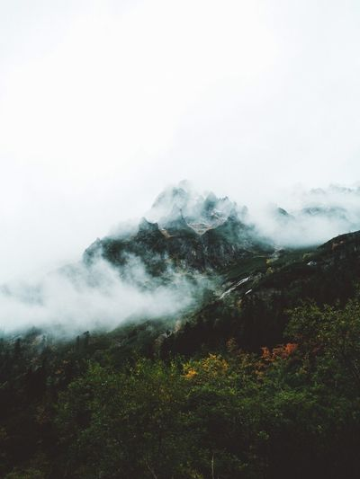 Lost In The Landscape Mountain Nature Beauty In Nature Landscape Tranquil Scene No People Scenics Outdoors Fog Day Tranquility Sky Mountain Range