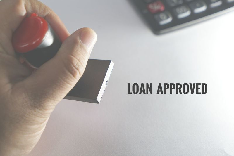 Loan Approval Calculator Rubber Stamp Stamping Approval Loan Approved Loan  Approved Hand Holding Number Stamp Banking Facilities Proposal Debt Asset Liability Business Housing Loan Business Loan Personal Loan Ahlong A4 Paper Human Hand Fingerprint Human Finger Close-up Capital Letter Alphabet Keyboard Computer Key Text