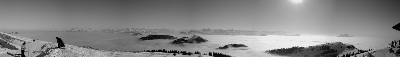 Blackandwhite Cold Temperature Filter Fog Landscape Mountain Mountain Range Nature Panorama Pilatus Rigi Rigikulm Sea Of Fog Snow Snowcapped Switzerland Tranquil Scene Tranquility Winter Nikon Here Belongs To Me The Great Outdoors With Adobe Fine Art Photography