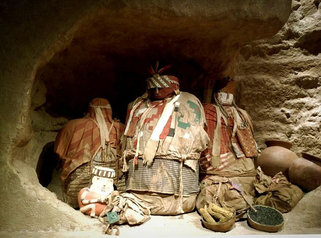 Peruvian burial sites for the loved ones. They were nun nudies and given food that was left there without eating. Often articles of their craftsmanship and a favorite item were left with them. Exhibition Being Cultured Absorbing Museum Mummies Peru