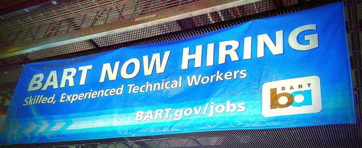 My Commute Transportation Center San Francisco Bay Area Public Transportation Subway Photography Commuters Transportation Taking Photos Bart Station Subway Station Subway Train Jobs Hiring Sign My Point Of View Check This Out Now Hiring Sign Job Hunting Job Search Employment Opportunities Bart Is Hiring L