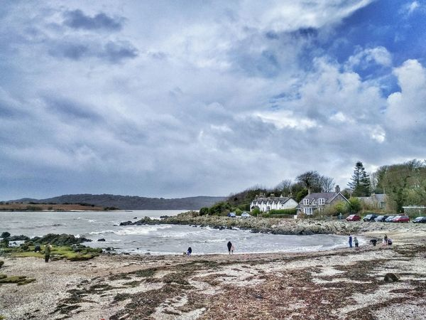 Rockcliffe Beach Beach Surf Landscape Scotland Dumfries