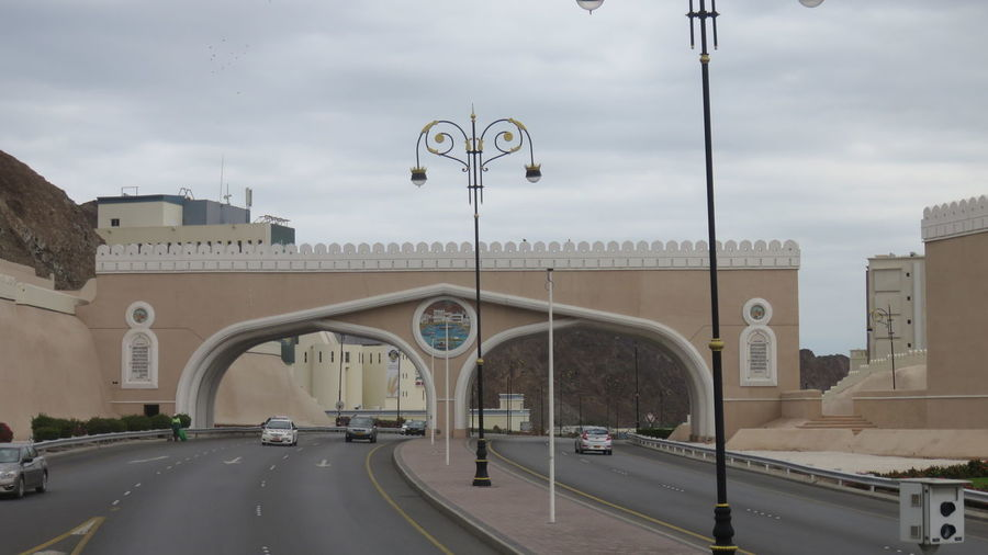 Multiple Lane Highway Passing Through Archway