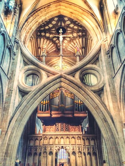 Architecture Built Structure Religion No People Travel Destinations Place Of Worship City Indoors  Day Cathedral Church Wells Cathedral Jesus God Directly Above