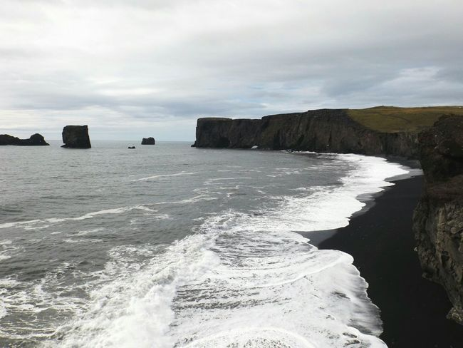 Sea Beach Black Sand Beach Black Sand Water Nature Horizon Over Water Beauty In Nature Rock Iceland_collection Iceland Memories Travel Destinations Iceland Trip Neighborhood Map Iceland The Great Outdoors - 2017 EyeEm Awards
