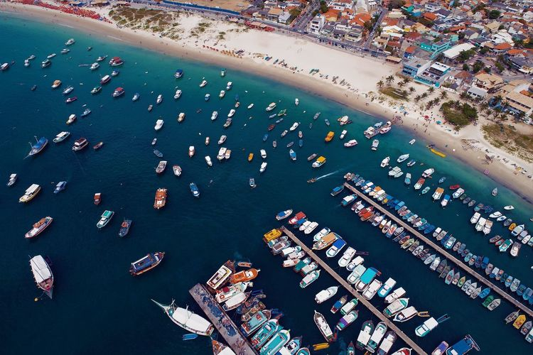 Aerial view of arraial do cabo, brazil
