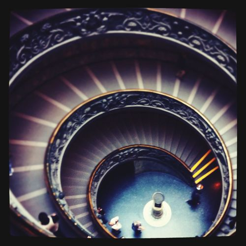 Rome Staircase Spiral Stairs Architecture No People Indoors
