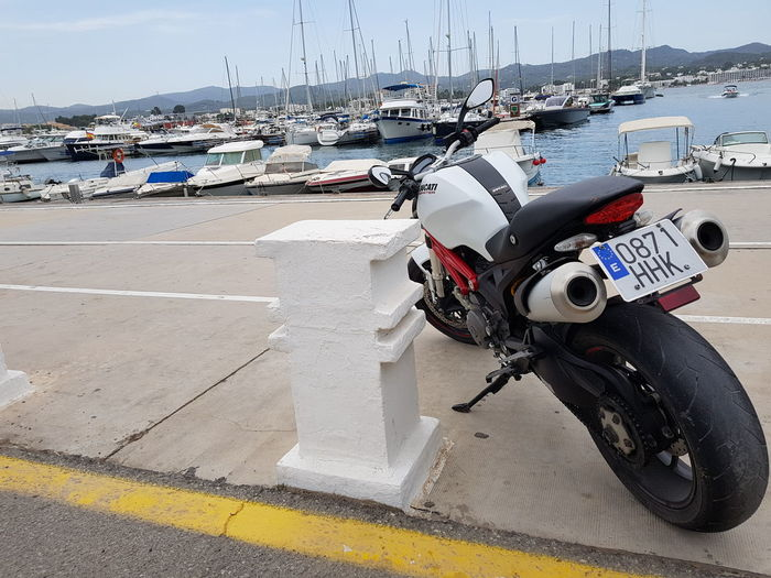 DUCATI 😈 Ducati Ducati Motorcycle Motorcycle Motorbike Speed Ibiza Ibiza, Spain Yacht Yachts San Antonio Ibiza Sant Antoni De Portmany Summer Beautiful View Boats Sea Island Motorsport Tropical Ducati Monster Adrenaline Need For Speed Tires Fun Transportation Mode Of Transport Beach Sea Day Outdoors Nautical Vessel