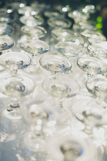 Champagne Glasses Close-up Fragility Full Frame Glass Glass - Material No People Reflection Selective Focus Wedding
