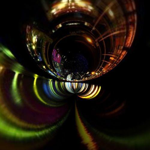 Close-up of glass lights