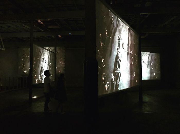 14th Factory Art , Man Watching Video Installation Art , May 2017.