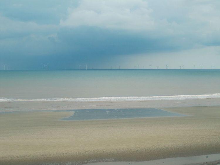 Rain Cloud Rain Rain Clouds Rain Coming Wind Turbines Wind Turbines At Sea Seascape East Yorkshire Tunstall