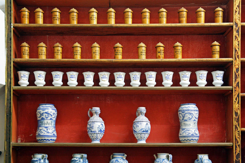 Dubrovnik,Croatia,Europe,famous Friars minor ancient pharmacy,2 Ancient Culture Day Dubrovnik, Croatia Eu Europe Franciscan Monastery Museum History Indoors  Legendary Ancient Pharmacy Museum No People Order Friars Minor Pharmacy Rarity