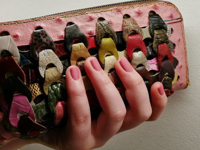 Nail Polish Human Hand Fingernail Close-up Purse Millennial Pink