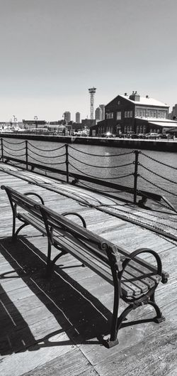Fun Holiday Travel Photography Absence Architecture Bench Building Building Exterior Built Structure City Clear Sky Connection Day Destinations Empty Footpath Nature No People Outdoors Panasonic Lumix Dmc-gx85 Photowalktheworld Railing Seat Sky Travel Destinations Water