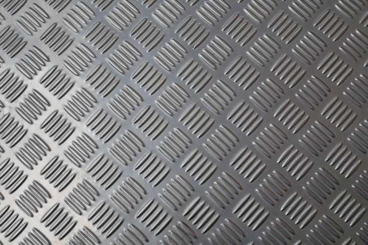Abstract Alloy Aluminum Backgrounds Brushed Metal Chrome Close-up Design Diamond Diamond Plate Equipment Full Frame Gray Iron - Metal Macro Metal No People Pattern Repetition Shape Sheet Metal Silver - Metal Silver Colored Steel Textured