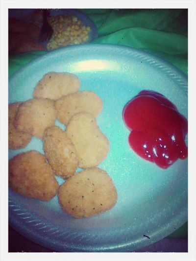 My Chicken Nuggets And Ketchup Best Dinner Ever! (: