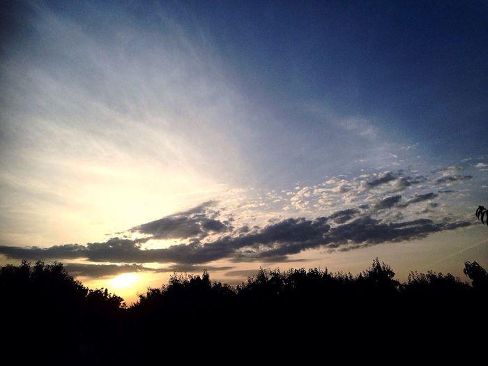 Nature Sky Sun Sunset Summer Night Clouds Turkey Trees Blackandwhite