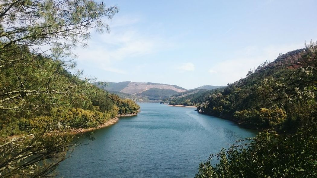 Reflection Water Mountain Blue Nature Beauty In Nature Scenics Outdoors Landscape Nature Dornes, Portugal Castelo Branco Portugal
