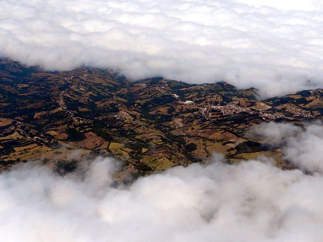 View From An Airplane near San Jose, Costa Rica Arriving Arrival Costa Rica Clouds Landscape