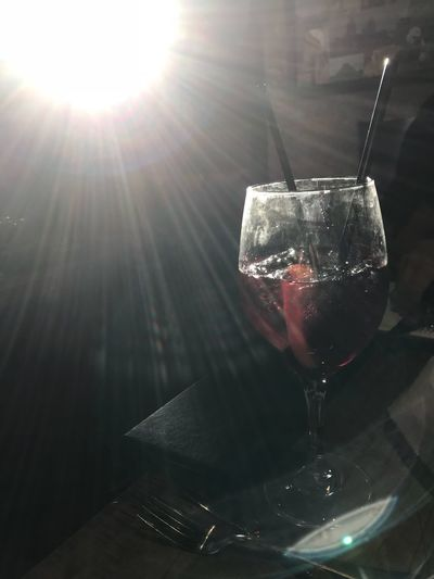 Sangria Drink Refreshment Food And Drink Table No People Lens Flare Alcohol Drinking Glass Wine