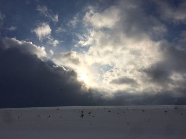 NoEditNoFilter Winter2016 ❄ IPhoneography Dramatic Sky Snowy Fields Out With My Kids