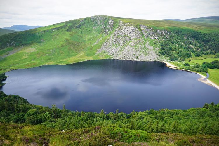 2017 Beauty In Nature Black Lake Cloud - Sky Day Guinness Lake Ireland Lake Landscape Mountain Nature No People Outdoors Scenics Sky Tranquil Scene Tranquility Tree Water Wicklow アイルランド ギネス湖