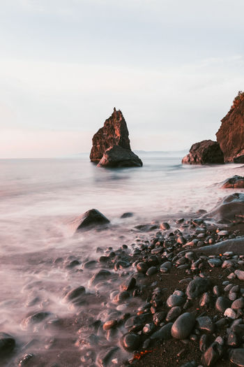 A rocky beach in Aurora, Philippines. Rock Water Environment Landscape Photography Seascape Beach Beach Life Nature Ocean View Waves Rocky Beach Slow Shutter Early Morning Ocean Waterscape Saltwater No People Sea Outdoors