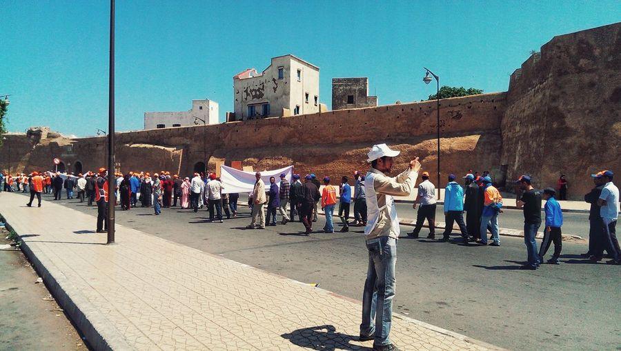 International Workers' Day May 1st Eljadida Mazagan Morocco Moroccan El Jadida People Croud Manifestation The Photojournalist - 2016 EyeEm Awards People And Places